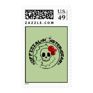 4 Little Monsters - Nessa Holiday Logo 2 Postage Stamp