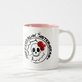 4 Little Monsters - Nessa Holiday Logo Two-Tone Coffee Mug