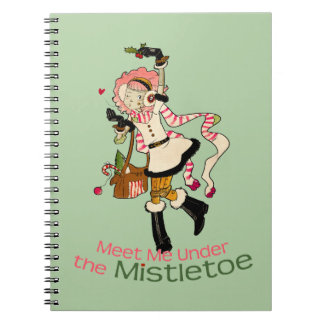4 Little Monsters - Nessa Holiday Spiral Note Books