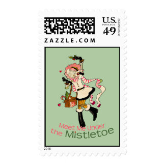 4 Little Monsters - Nessa Holiday Postage Stamp