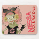 4 Little Monsters - Nessa Mouse Pad