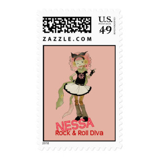 4 Little Monsters - Nessa Postage Stamp