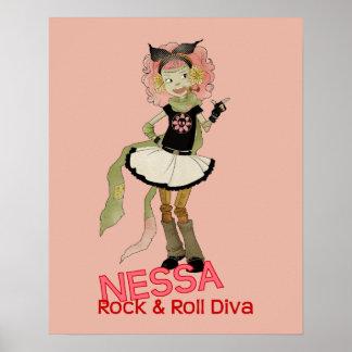 4 Little Monsters - Nessa Poster