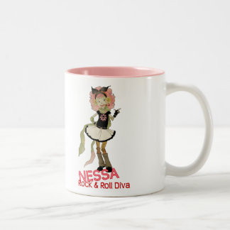 4 Little Monsters - Nessa Two-Tone Coffee Mug