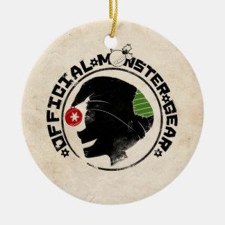 4 Little Monsters - Nigel Holiday Logo 2 Ceramic Ornament