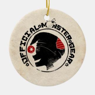 4 Little Monsters - Nigel Holiday Logo Ceramic Ornament
