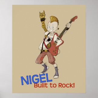 4 Little Monsters - Nigel Poster