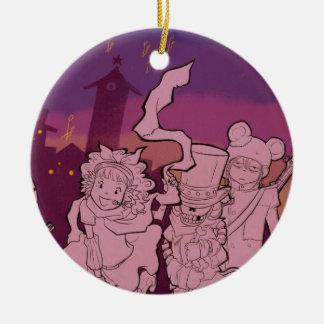 4 Little Monsters - Night Music Ceramic Ornament
