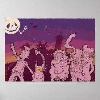 4 Little Monsters - Night Music Poster