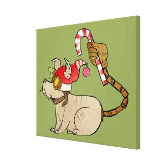 4 Little Monsters - Tesla Holiday Logo Canvas Print