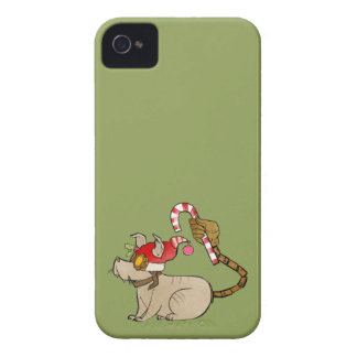 4 Little Monsters - Tesla Holiday Logo Case-Mate iPhone 4 Case