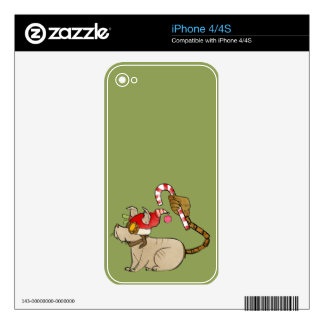 4 Little Monsters - Tesla Holiday Logo Decal For The iPhone 4S