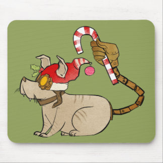 4 Little Monsters - Tesla Holiday Logo Mouse Pad