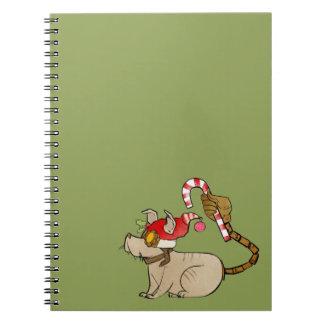 4 Little Monsters - Tesla Holiday Logo Notebook