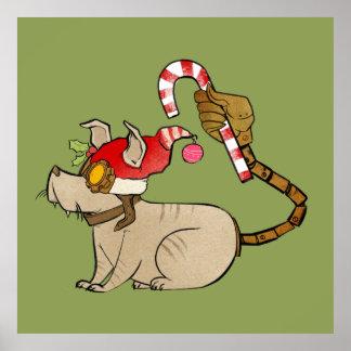 4 Little Monsters - Tesla Holiday Logo Poster