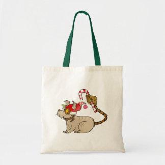 4 Little Monsters - Tesla Holiday Logo Tote Bag