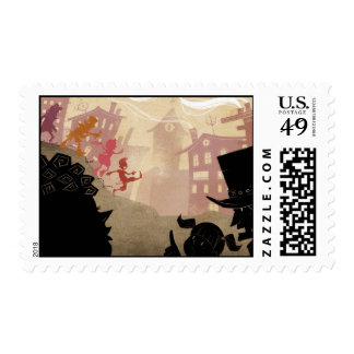 4 Little Monsters - Walking Through Town Stamps