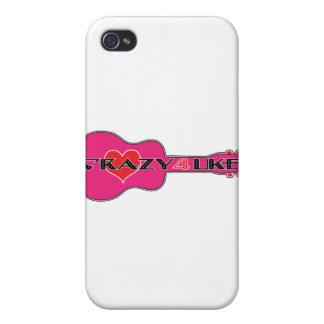 4 locos Uke iPhone 4 Carcasas