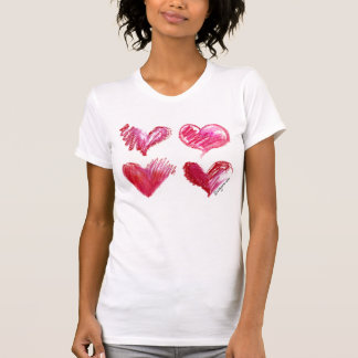 4 Love Hearts Tee Shirt