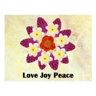 4 Love Joy Peace Postcard