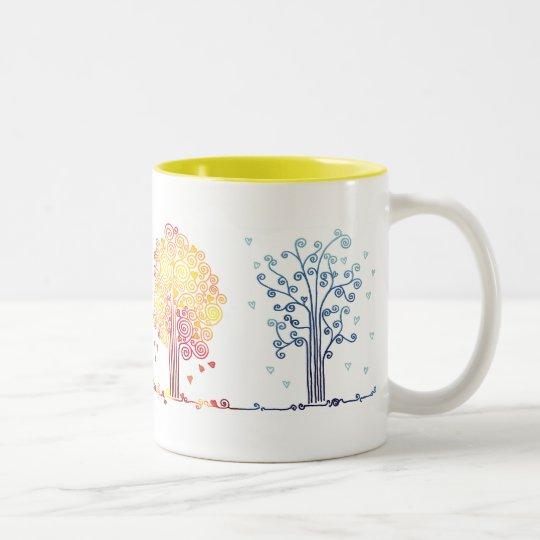 4 Love Seasons Two-Tone Coffee Mug