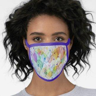 4 LoveHearts Art Inspirational Custom Face Mask