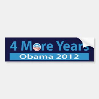 4 más años de Obama Pegatina De Parachoque
