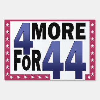 4 más para 44 letreros