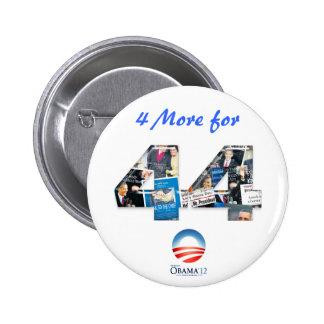 4 más para el botón de la reelección de 44 Obama Pins