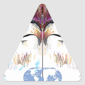 4 - Maya says to look at this world. Triangle Sticker