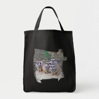 4 Meerkats Peering Tote Bag