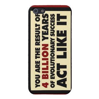 4 mil millones años de evolución. El acto tiene gu iPhone 5 Carcasas