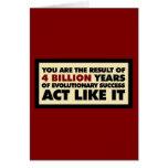 4 mil millones años de evolución. El acto tiene gu Tarjeta