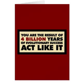 4 mil millones años de evolución. El acto tiene gu Tarjeta De Felicitación