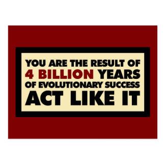 4 mil millones años de evolución. El acto tiene Postales