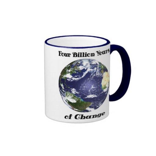 4 mil millones años de la taza de café del cambio