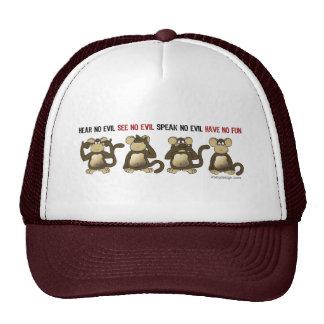 4 monos sabios gorras