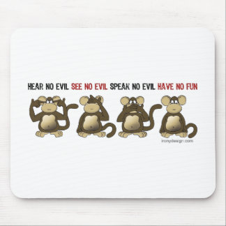 4 monos sabios tapetes de ratón