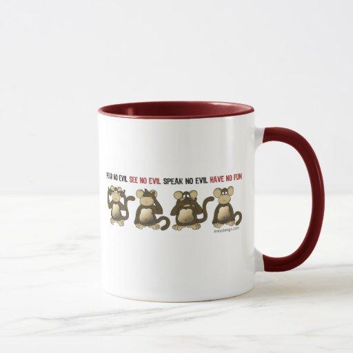 4 monos sabios taza