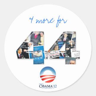 4 More for 44: Re-Elect Obama 2012 Sticker