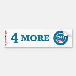 4 More Years Obama 2012 Bumper Sticker