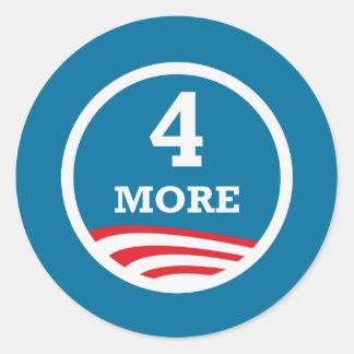4 More Years Obama 2012 Classic Round Sticker