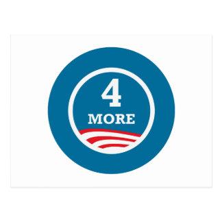 4 More Years Obama 2012 Postcard