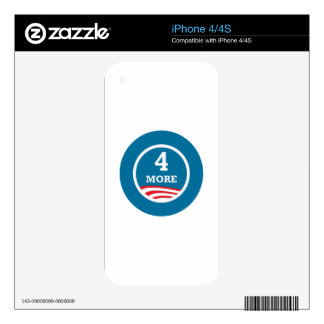 4 More Years Obama 2012 Skins For The iPhone 4S