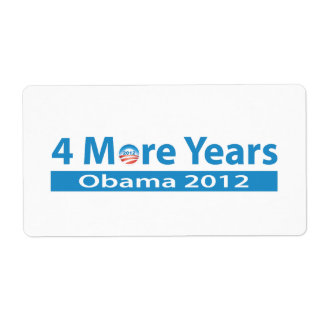 4 More Years of Obama Label