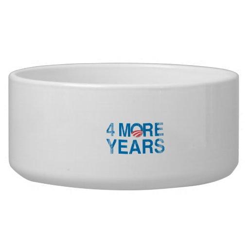 4-MORE-YEARS-OF-OBAMA Vintage.png Dog Bowl
