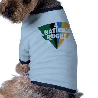 4 Nations Rugby Pet Shirt