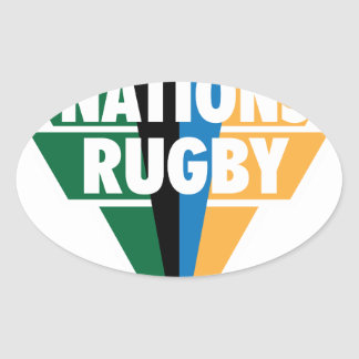4 Nations Rugby Oval Sticker