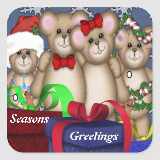 4 navidad de los compinches pegatina cuadrada