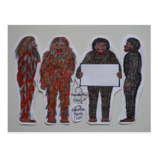 4 Neanderthals,.JPG Postcard